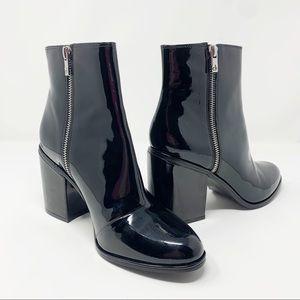 Calvin Klein Black Cilil Patent Ankle Boot 8.5
